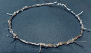 small barb wire necklace
