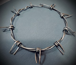 large barb wire necklACE