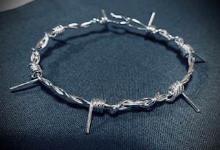 small barb wire bracelet