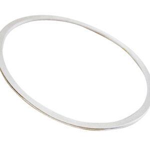 flat silver bangle