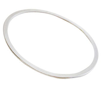 Colette Hazelwood Contemporary Jewellery flat silver bangle