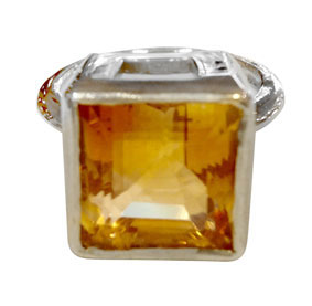 Colette Hazelwood Contemporary Jewellery. silver citrine ring