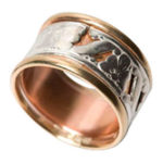 Repaired & Re Designed Silver & Gold Ring