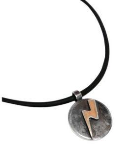 Colette Hazelwood Contemporary Jewellery. Silver David Bowie Pendant