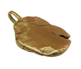 Gold Pebble Nugget Pendant