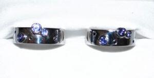 Palladium Tanzanite & Black Diamonds Rings by Colette Hazelwood Contemporary Jewellery.