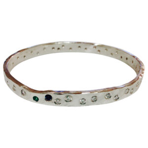 platinum and diamonds bangle