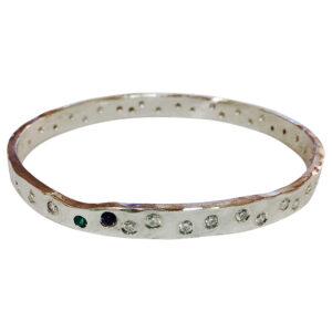 Colette Hazelwood Contemporary Jewellery. platinum and diamonds bangle