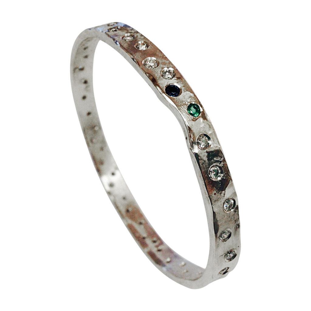 Colette Hazelwood - platinum and diamonds bangle