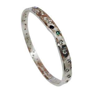 Platinum and diamond bangle