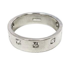 Platinum & 7 Diamonds Engagement Ring