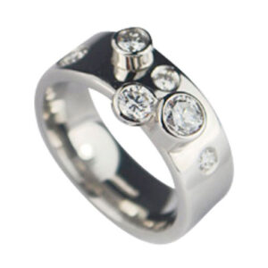 Platinum with Diamonds Engagement Ring Colette Hazelwood Contemporary Jewellery