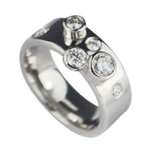 Platinum with Diamonds Engagement Ring