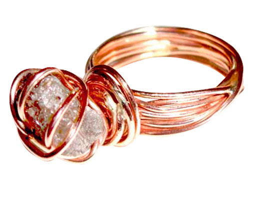 Colette Hazelwood Contemporary Jewellery  Red Gold and Diamond Ring