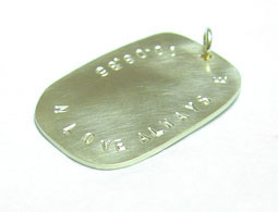 Colette Hazelwood Contemporary Jewellery - Gold Dog Tag