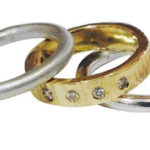 Colette Hazelwood Contemporary Jewellery gold, silver and diamonds stacking ring
