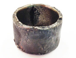 Colette Hazelwood Contemporary Jewellery. chunky silver reticulated ring