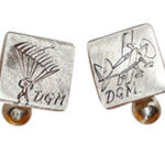 Colette Hazelwood Contemporary jewellery silver parachute cuff links