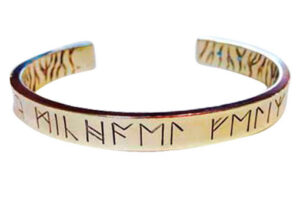 Colette Hazelwood Contemporary Jewellery. chunky silver runes bangle