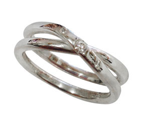 silver & diamonds infinity ring