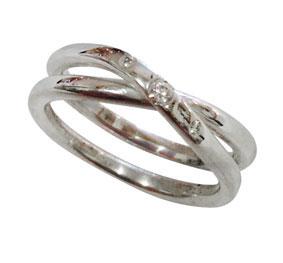 silver & diamonds infinity ring