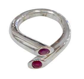 Colette Hazelwood - white gold and rubiy ring