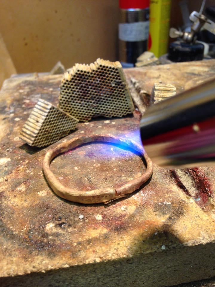 Colette Hazelwood - scrap gold melting scrap gold