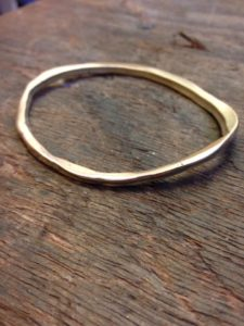gold bangle made from scrap gold