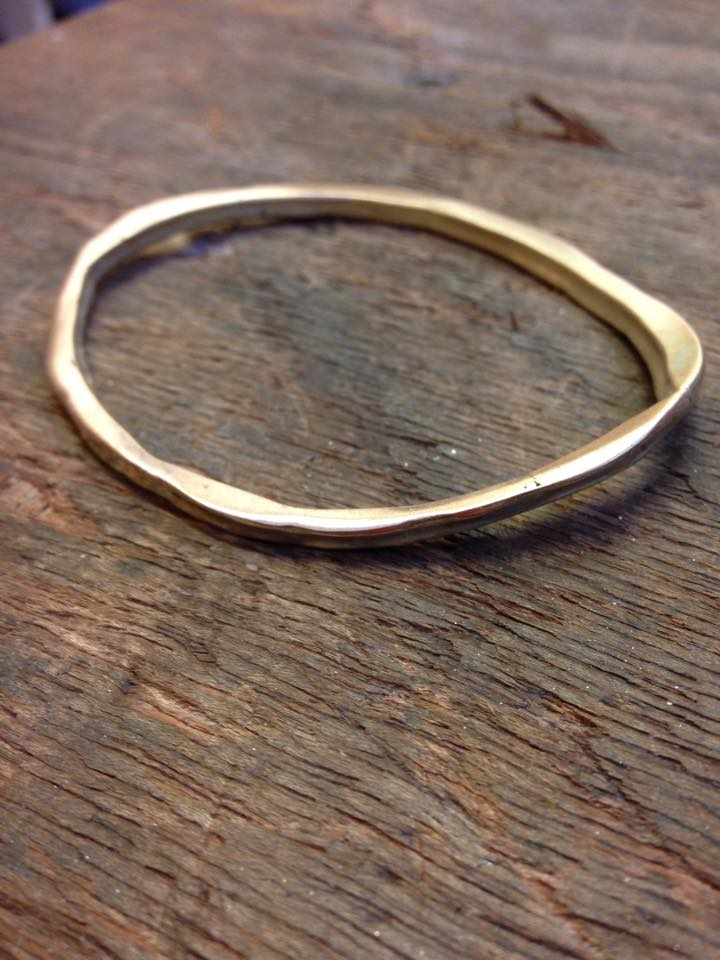 Colette Hazelwood - scrap gold gold bangle made from scrap gold