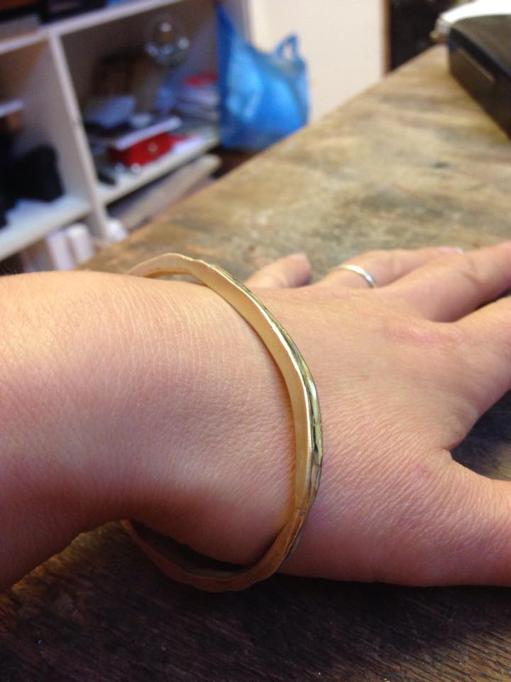 Colette Hazelwood - bangle from scrap gold