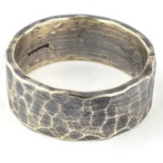 silver hammered ring
