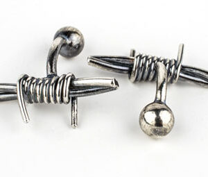 Colette Hazelwood Contemporary Jewellery, silver barb wire cuff links