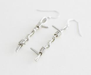 Barbwire Drop Earrings