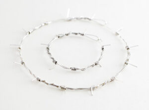 barb wire necklace bangle