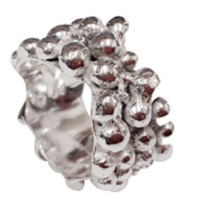 Colette Hazelwood Contemporary Jewellery heavy chunky bobble ring