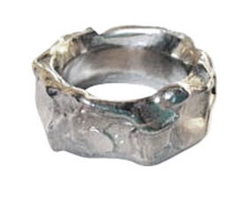wax carving - organic silver ring