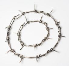 Colette Hazelwood Contemporary Jewellerymedium barb wire necklace