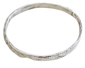 Colette Hazelwood Contemporary Jewellery organic reticulated bangle