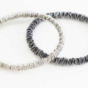 fine wraparound bangles silver
