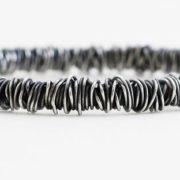 fine wraparound silver bangle