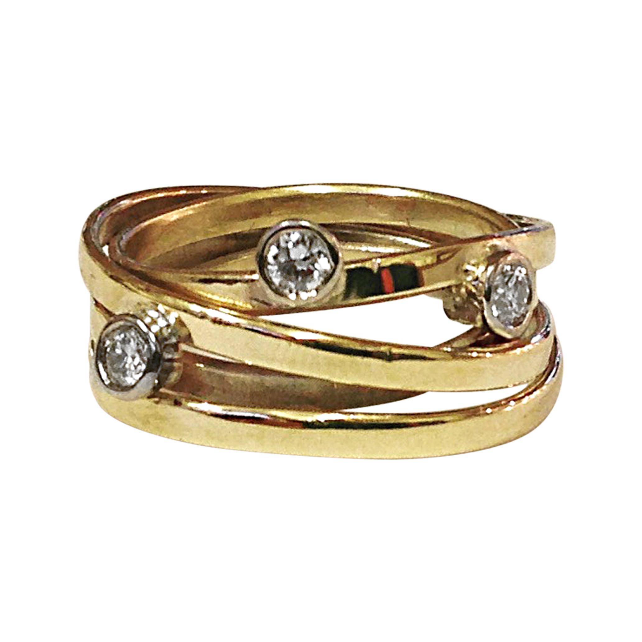 gold Wrap Ring with Diamonds.