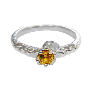 silver ring with citrine by Colette Hazelwood Contemporary Jewellery.