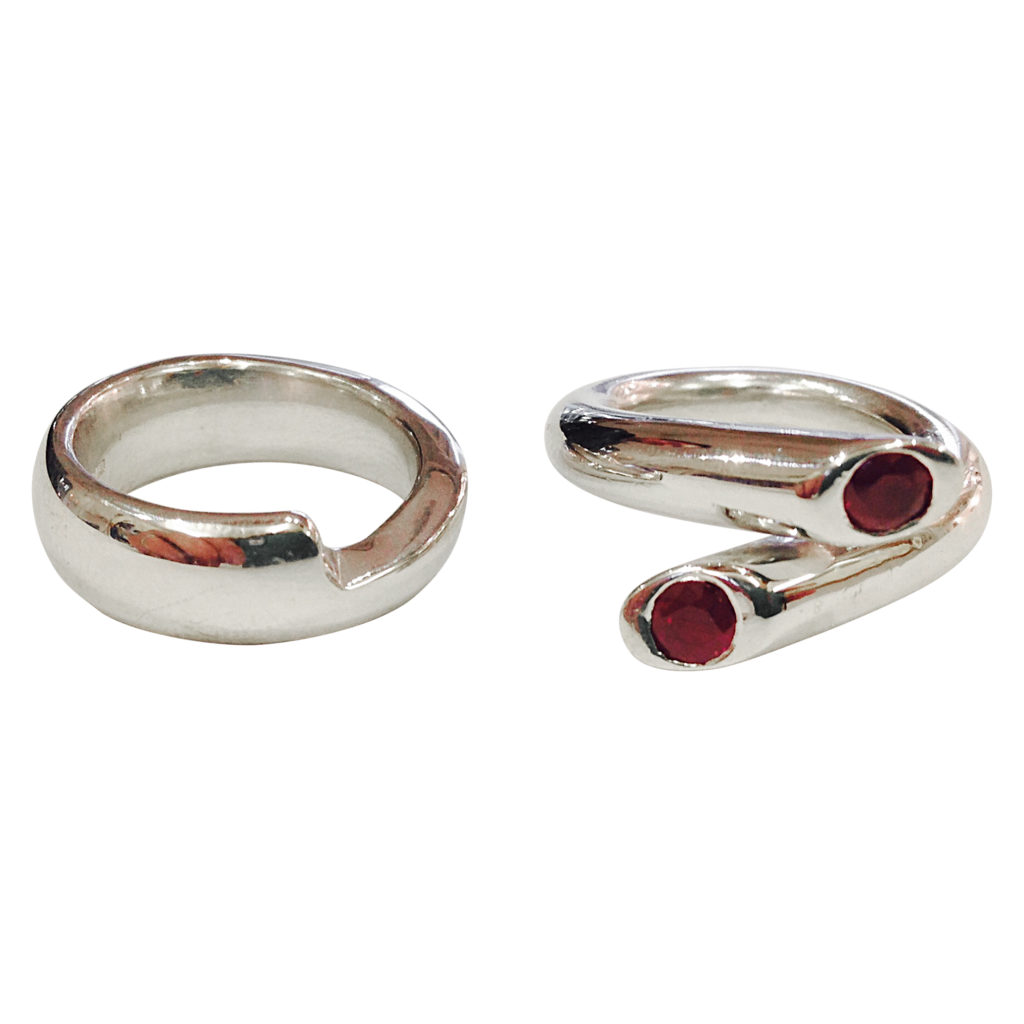 Colette Hazelwood - white gold and ruby wedding & Engagement ring