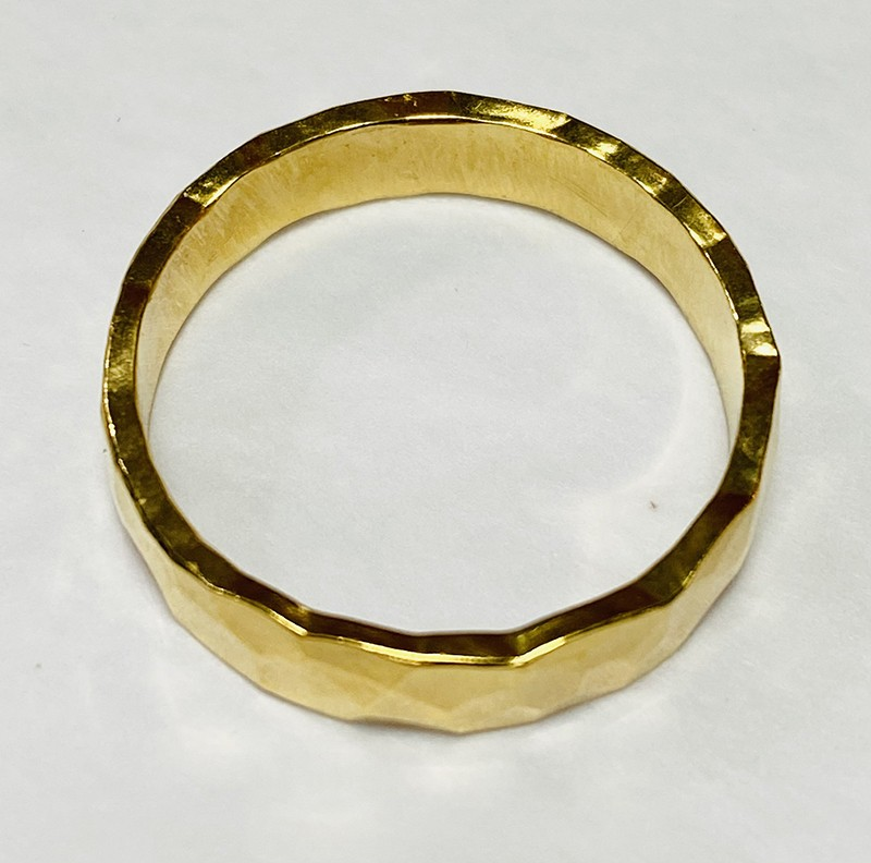 hammered gold plated ring