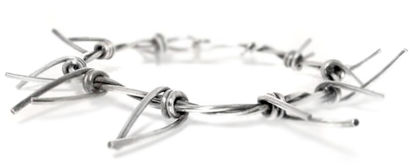 heavy barbed wire necklace