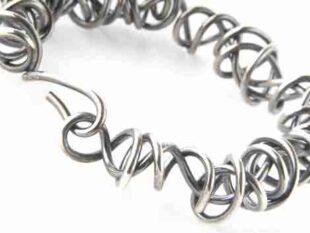 Colette Hazelwood Contemporary Jewellery Heavy wraparound oxidised bangle