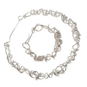 heavy wraparound polished necklace and bracelet