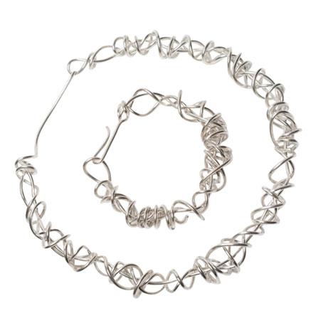 heavy wraparound polished necklace and bracelet