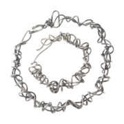 heavy wraparound oxidised necklace and bracelet