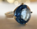 silver, 9ct white gold and topaz ring